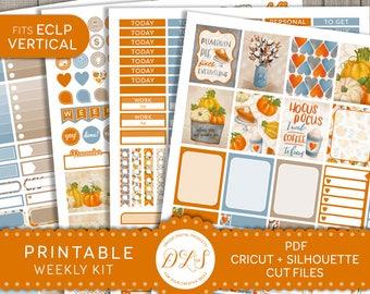 Halloween Planner Stickers, October Weekly Planner Kit, October Planner Kit, Fall Planner Stickers, fits Erin Condren Vertical, VS135