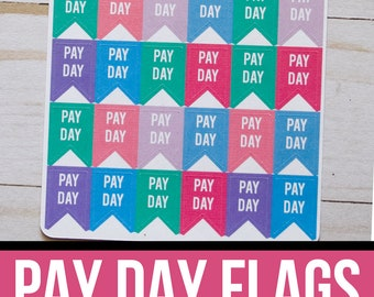Pay Day Flag Planner Stickers | Finance Planner Stickers | Budget Stickers | Payday Stickers | Functional Planner Stickers | Payday Flags