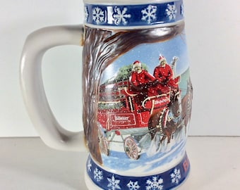 1995 Budweiser Holiday Stein Lighting The Way Home. Excellent