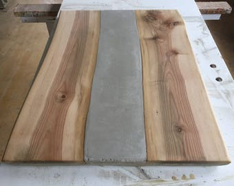 Table Top Concrete and wood