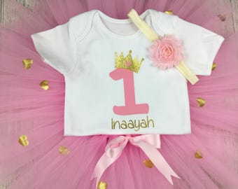 Girls First Birthday Cake Smash Outfit, Cake Smash, Photo props, First birthday outfit, birthday tutu, cake smash outfit