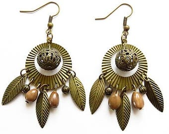 Ear studs earrings 17534