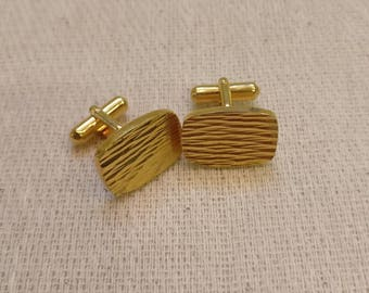 Vintage Metal Cuff links, made in England, Gold Tone