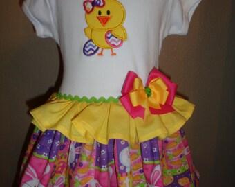 Girls Easter Dress Easter Chick Custom Easter Dress
