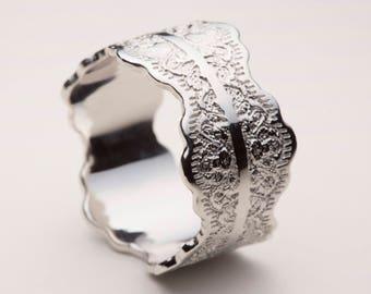 Platinum Wedding Band, Platinum Wedding Ring, Wedding Band Platinum, Platinum Lace Ring, Women's Ring Platinum, Platinum Ring,Platinum Rings