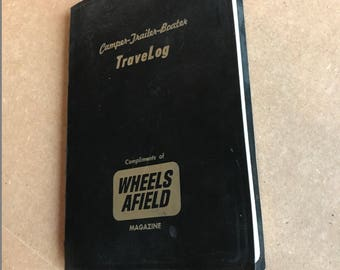 Vintage Travel Log . Travel Diary . Travel Journal . Wheels Afield . 1960's . Camping/Boating/Trailer . Wire Ring Bound . Annual Record