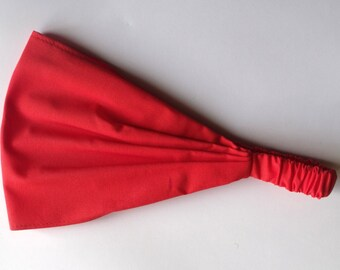 Yoga Headband - Solid Coral Kona Cotton fabric by Robert Kaufman.