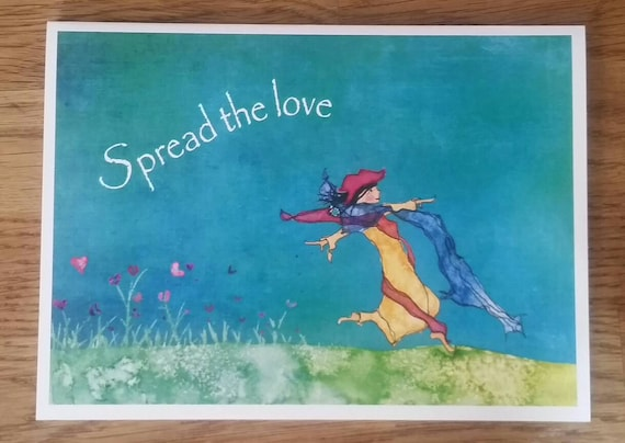 Spread The Love 5X7 Greeting Card