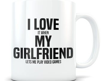 Video Game gift, video game mug, gamer gift, gamer mug, gamer boyfriend, video game gift for men, gaming gift, gaming mug, I love my gf