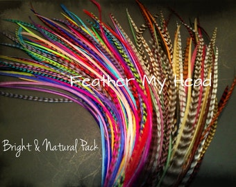 200 pc XL Whiting Grizzly And Solid Feather Extension Bulk Wholesale Lot