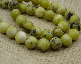 10 yellow beads Jasper stone 10mm round