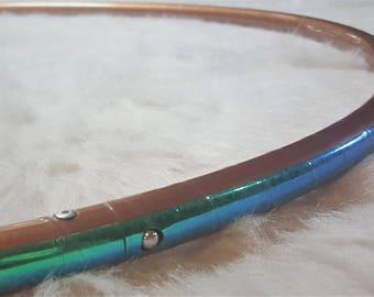 "SaLE! 28"" - 3/4"" OD 'REFLECTIVE Bronze Satin & Green' Polypro Hoop!  Inside Grip Option. 20% OFF!  SHiPS NeXT DaY!"