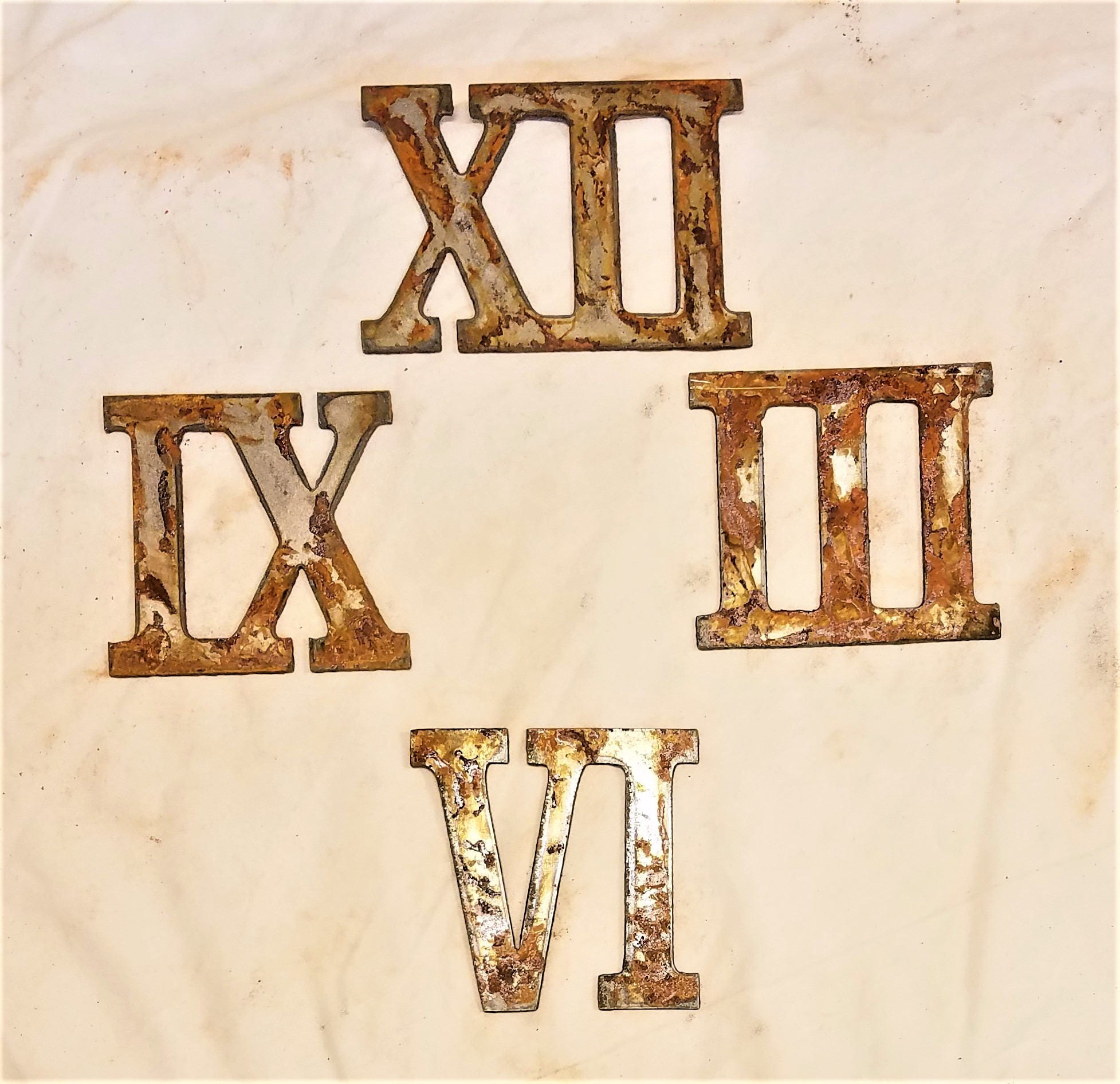 3 Inch Roman Numerals Numbers Mini Clock Set 12 3 6 9