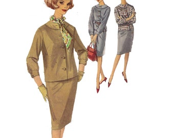 """Simplicity 5109, sewing pattern, size 16 bust 36"""" women's overblouse pattern, button down, pleated skirt, straight skirt"""