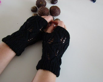 Hand warmers, hand knitted, gloves