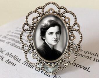 Rosalind Franklin Brooch - Science Jewelry, Rosalind Franklin Jewelry, DNA Brooch, Science Gift, Women in Science, Female Scientist Brooch