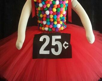Gumball Machine tutu dress costume, Halloween costume, gumball machine tutu dress