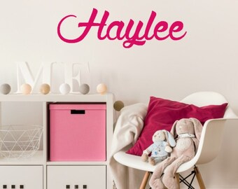 Girls Name Decal, Name Wall Decal, Girls Room Wall Decal, Little Girls Bedroom Decor