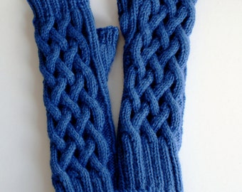 Travelling Fingerless Mitts, Wrist Warmers, Texting Mitts