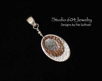 Removable Pendant in Sterling Silver & Copper - P802