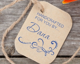 Handcrafted for you by... Name  Stamp