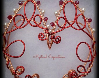 Fairy Ears Elf Ears Unique Red and Copper Loop Design