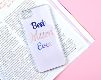 Best Mum Even Mother's Day Custom Made iPhone 5/5S/SE 6/6S 7 8 Plus + X Samsung S6 S7 S7 Edge S8 Phone Case/Cover UK!