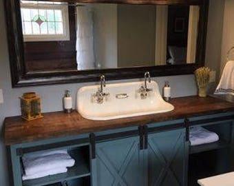 Barn Door Bathroom Vanity (Free Shipping)