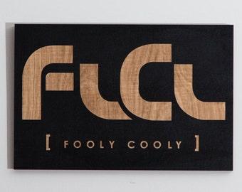 FLCL - Fooly Cooly Logo Laser Engraved