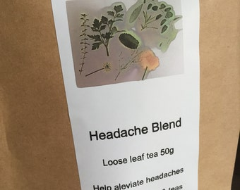 Headache blend loose leaf tea 20g