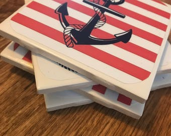 Custom Photo Tile Coasters ( Anchor Theme)