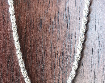 """20"""" US Made Thick Sterling Silver Rope Chain, 10 grams"""