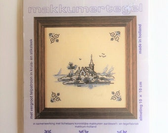 Village and church Cross stitch kit made in Holland