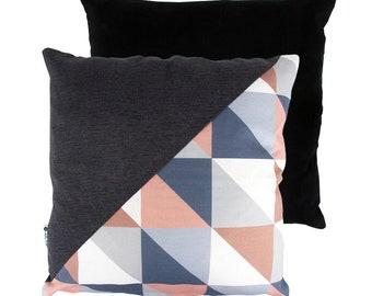 LUCKY Geometric cushion-brown cushion cover, patchwork, geometric cushion, geometric, original gift, gift, cushion