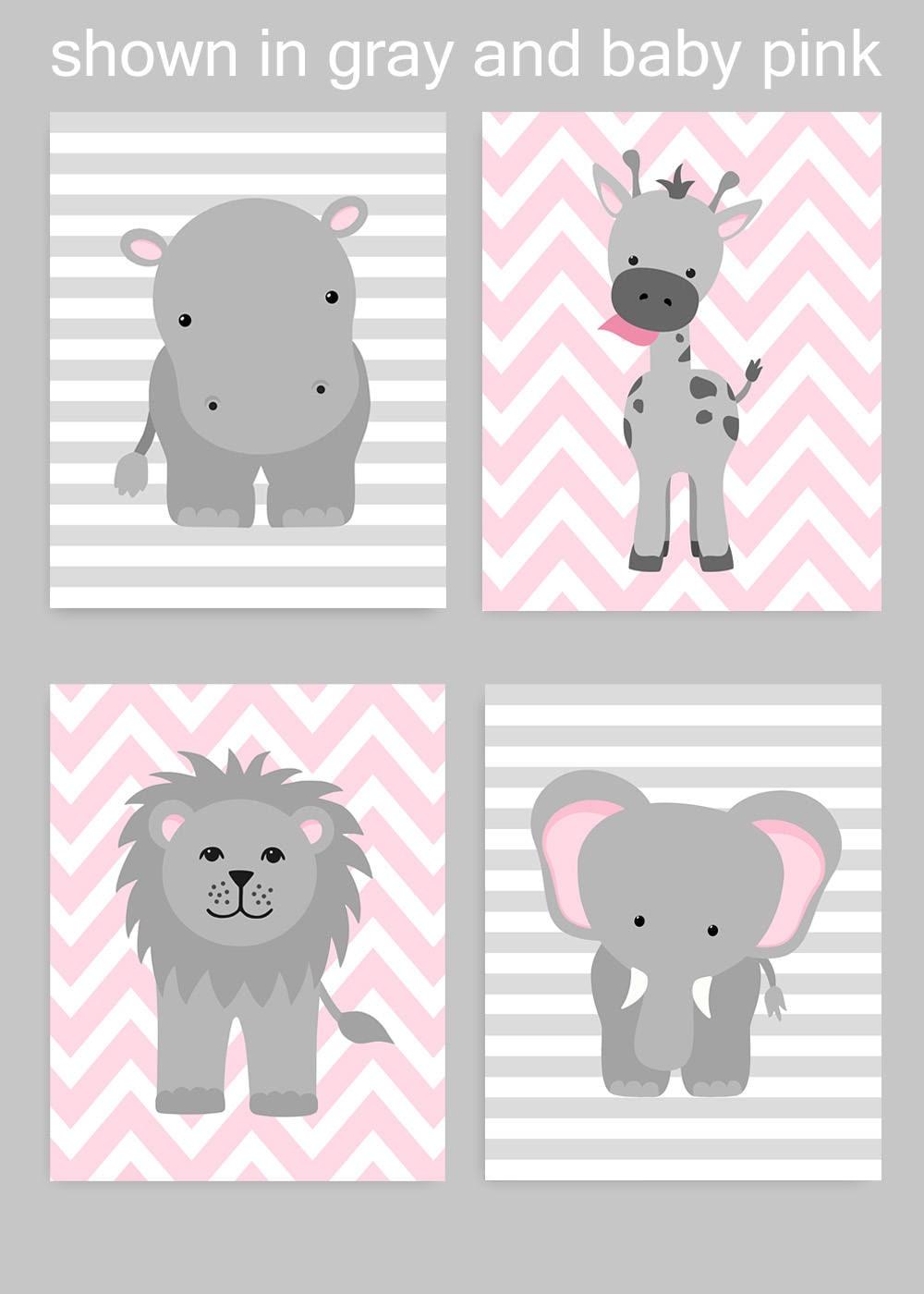 Zoo Kinderzimmer Dekor grau und rosa Kinderzimmer Mädchen