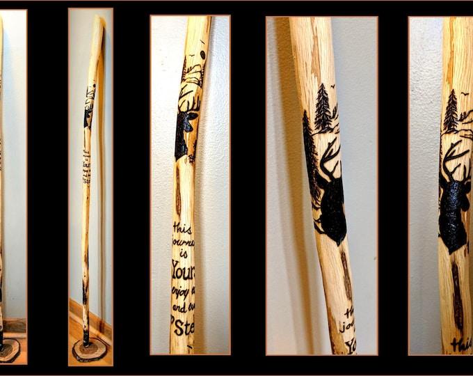 hiking stick - wood Anniversary gift - walking stick - retirement gift - husband gift - father gift