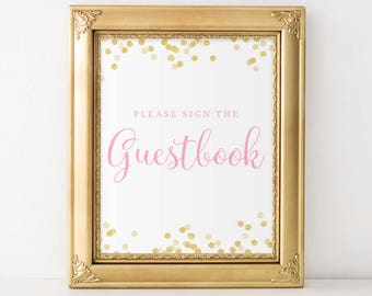 Please Sign the Guest Book Sign Printable, Guest Book Sign, Guest Book Printable, Baby Shower Guest Book Sign, Bridal Shower Sign