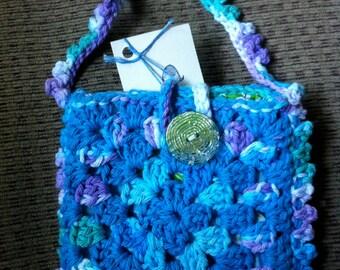 Crocheted Granny Square Purse #160