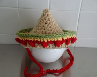 Crochet pdf PATTERN Baby Mexican Sombrero Hat - Photography Prop - with permission to sell finished product