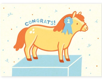 Congratulatory Pony Card