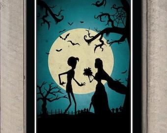 Cadáver novia cine arte cartel cartel de película clásica