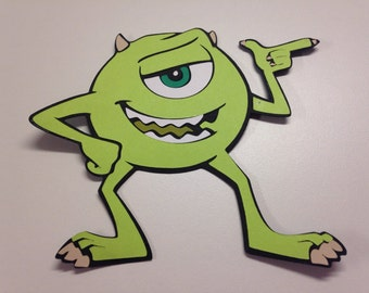 Mike die cut from Monsters Inc