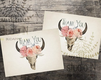 free printable wedding thank you cards