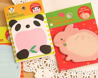 Sticky Notes Memo Pad Labels  Bookmark Cute Stationary Paper   School Office Supplies  Removable Adhesive Animal Korean Post-It M09