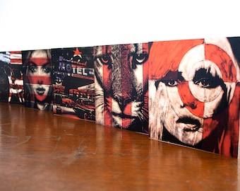 Set of 5 cards Blondie Puma Motel Wild Love Hunter S Thompson Urban Art Greetings