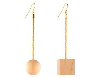 Geometric Earrings, Modern Earrings, Asymmetrical Earrings, Mismatched Earrings, Drop Earrings, Statement Earrings, Long Earrings