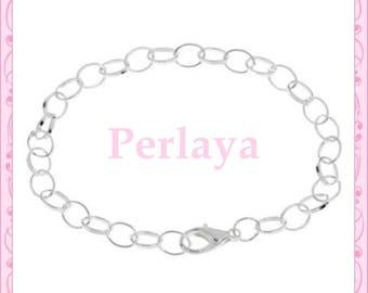 12 REF1295 silver metal chain bracelets