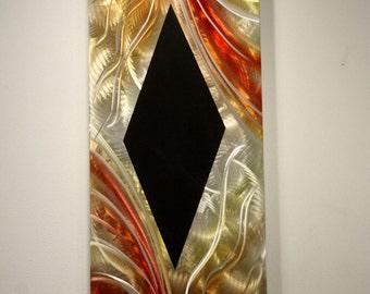 Wilmos Kovacs Original Art Metal Wall Sculpture Abstract Decor Painting - W527