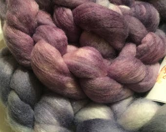 Polworth/Silk Blended Roving -Ursula