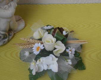 Rustic table centerpiece - rustic artificial flowers table decoration - 20cm